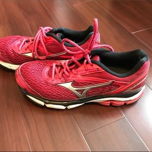 Mizuno Wave Inspire 13 Red Pink Running Shoes